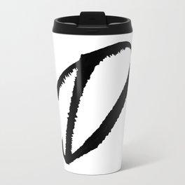 Letter D Ink Monogram Travel Mug