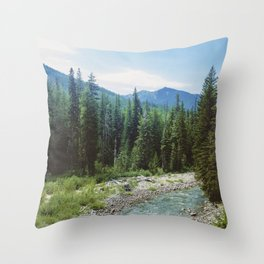 PNW River Throw Pillow