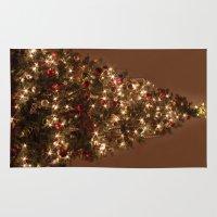 christmas tree Area & Throw Rugs featuring Christmas tree. by Assiyam