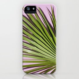 Palm on Lavender iPhone Case