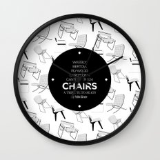 CHAIRS - A tribute to seats (special edition) Wall Clock