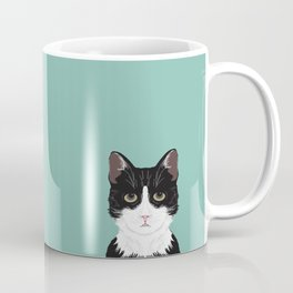 Quinn - Cute black and white cat tuxedo cat gifts for cat lady gift ideas cell phone case with cat Coffee Mug