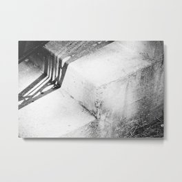 black and white shadow abstract. Metal Print