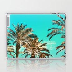 Tropical Palm Trees  - Vintage Turquoise Sky Laptop & iPad Skin