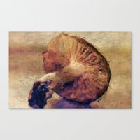 mushroom Canvas Prints featuring Mushroom by LoRo  Art & Pictures
