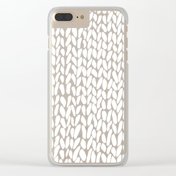 Hand Knitted Loops Clear iPhone Case