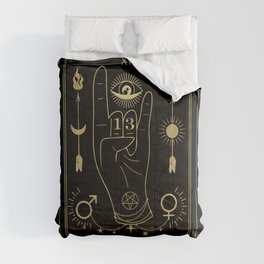 Le Diable or The Devil Tarot Gold Comforters