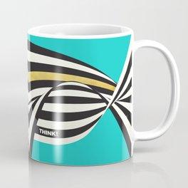 THINK! – Wavy Stripes on Luxury Blue Coffee Mug