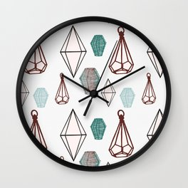 Vessels on white Wall Clock