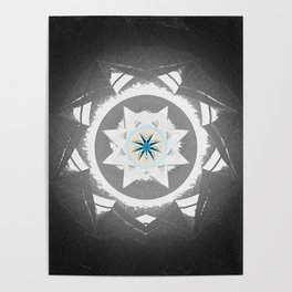 Anasazi Star Sun Mandala Poster