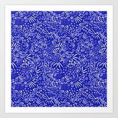 Midnight Floral Art Print