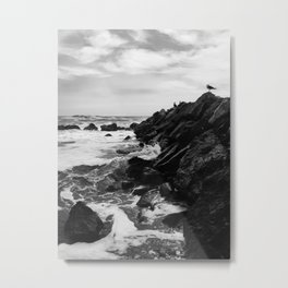 Dark beach Metal Print