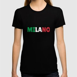 Milano Italy flag holiday gift T-shirt