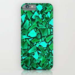 Deep Emerald and Neo Mint Terrazzo iPhone Case