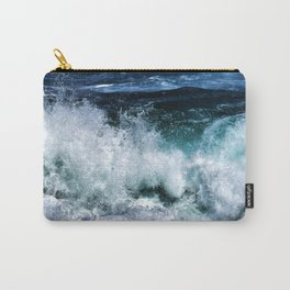 Dark Blue Waves Carry-All Pouch