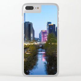 Stream at night Clear iPhone Case