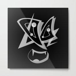 META BLACK SiDE ver. (Original Characters Art by AKIRA) Metal Print