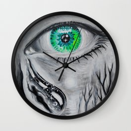 Tears for a lost soul Wall Clock