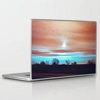 night sky Laptop & iPad Skins featuring Night sky by J's Corner