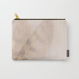Two feathers on a soft pastel background - beautiful couple Carry-All Pouch