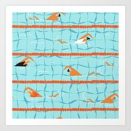 Swimming pool Kunstdrucke