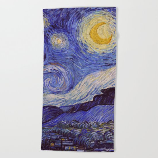 Vincent Van Gogh Starry Night Beach Towel