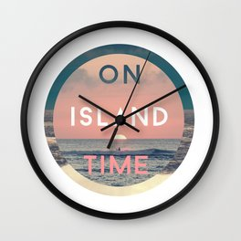 On Island Time Wall Clock