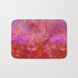 """""""Abstract Spring Fire"""" Bath Mat"""