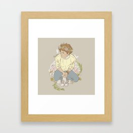 """ The Sun-Kissed Boy "" Framed Art Print"