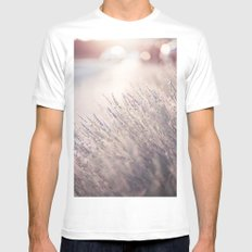 Magical sunset MEDIUM Mens Fitted Tee White