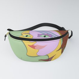Behind the mask, cubism art style. Design. Fanny Pack
