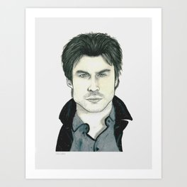 Ian Somerhalder Art Print
