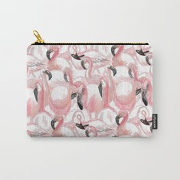 All the Flamingos Carry-All Pouch