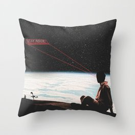 Shelter in Space Throw Pillow