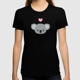 Cute koalas and pink hearts T-shirt