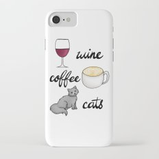 Wine Coffee Cats Slim Case iPhone 8