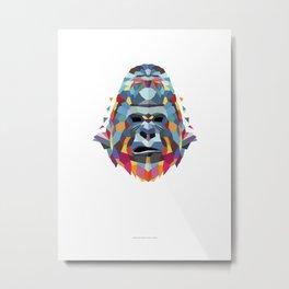 Gorilla Color Geometric Metal Print