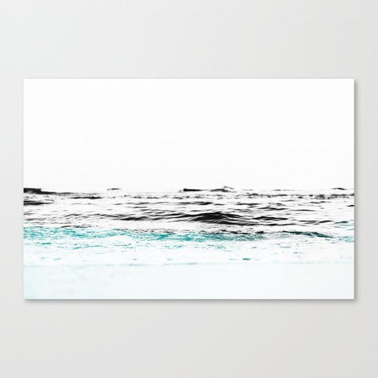 Minimalist ocean waves Canvas Print