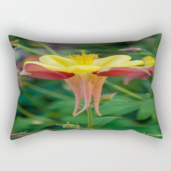 Floating Flower Rectangular Pillow