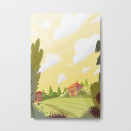 Campagne ensoleillée / Sunny countryside Metal Print
