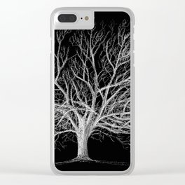 Walnut tree Clear iPhone Case