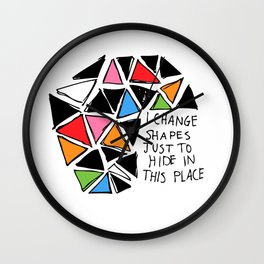 Colored Shapes Wall Clock