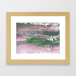 Purple green cloud Framed Art Print