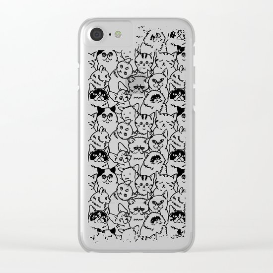 Oh Cats Clear iPhone Case