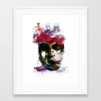 no face Framed Art Prints featuring Face by Marian - Claudiu Bortan