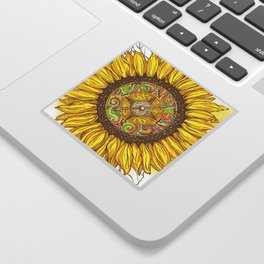 Sunflower Compass Sticker