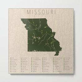 Missouri Parks Metal Print