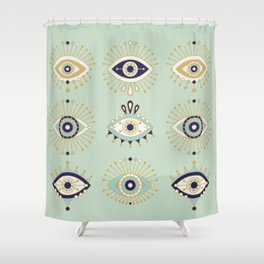 Evil Eye Collection Shower Curtain