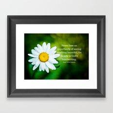 Flower Dewdrops Framed Art Print