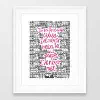 cities Framed Art Prints featuring Cities by Raphaella Martelino